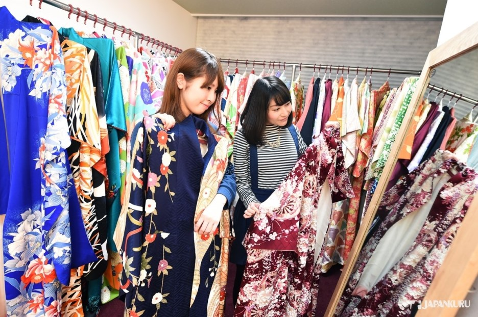 Choosing your favorite Kimono