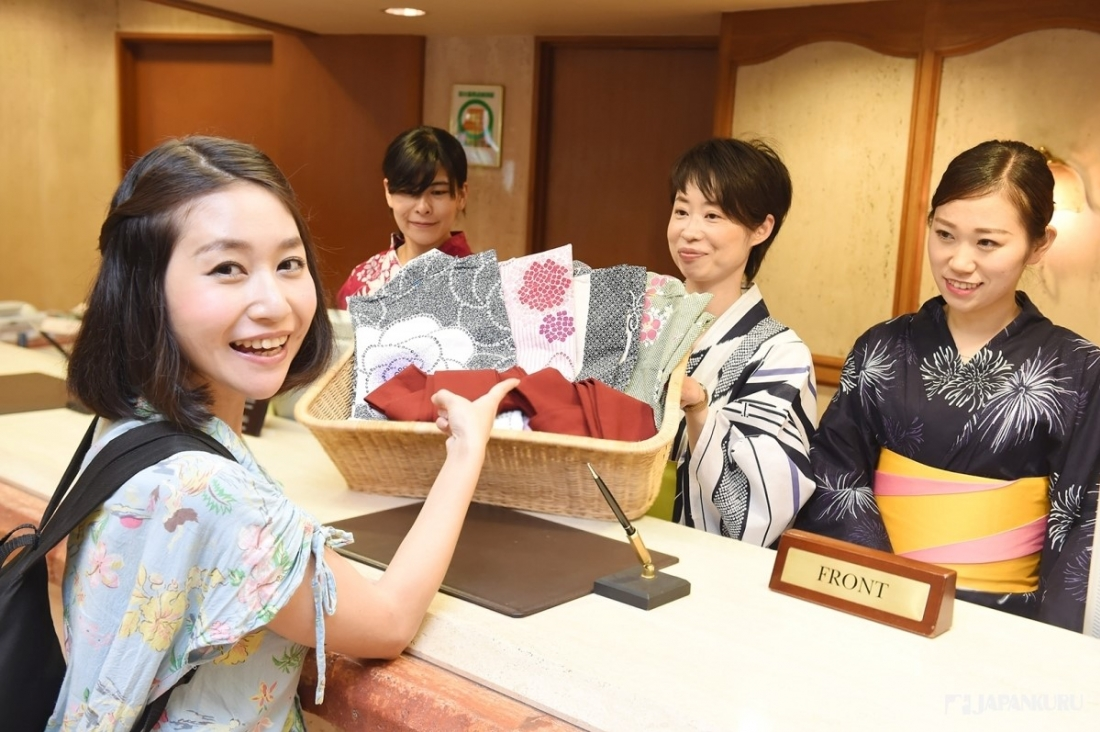 在箱根體驗 夏日的浴衣