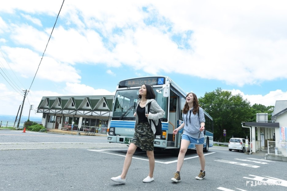 ★ Privilege 2:  Bus from the station to Mount Tsukuba
