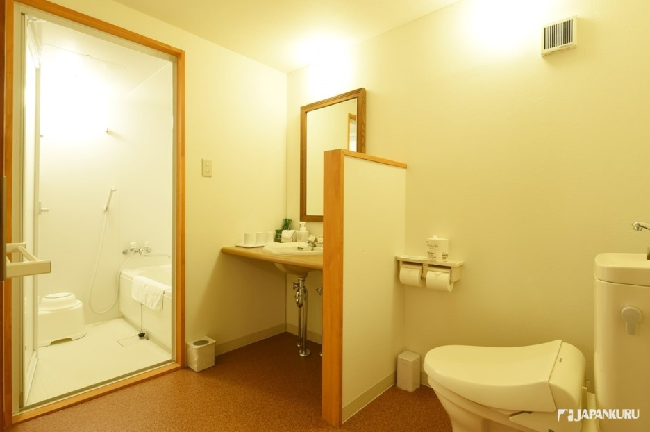 Spacious bathroom and Amenities