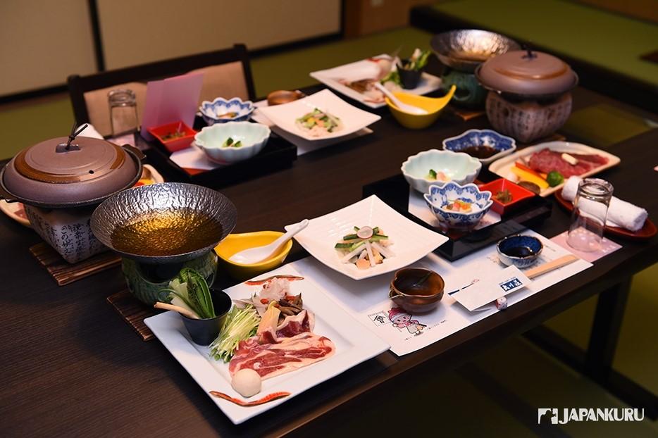 華麗的日本懷石料理
