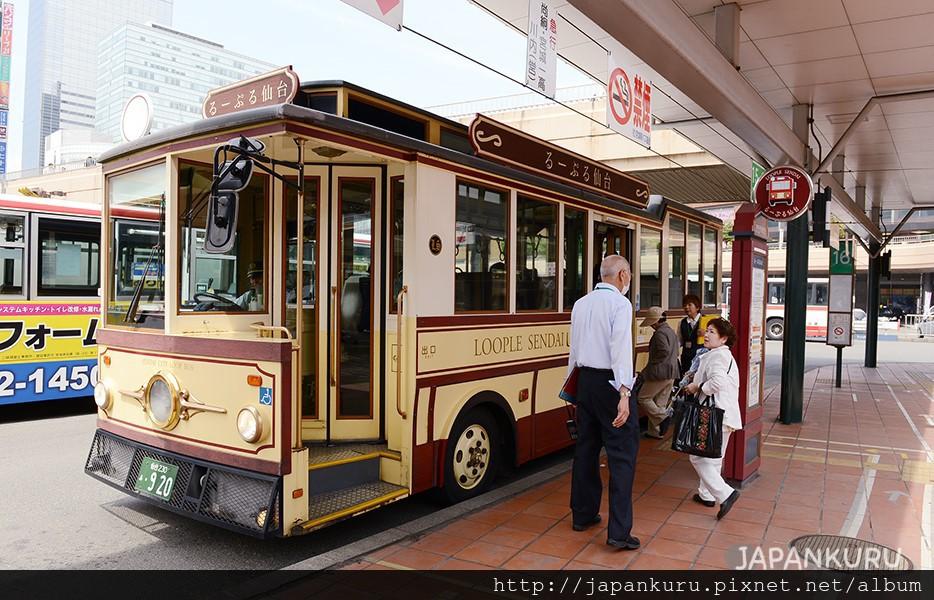 搭乘觀光循環巴士暢遊仙台