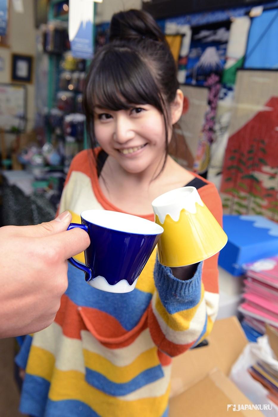 可愛的富士山杯子