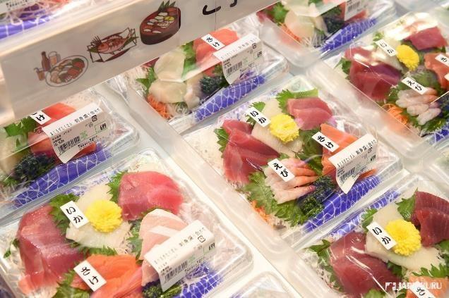 卓越新鮮度的生魚片們
