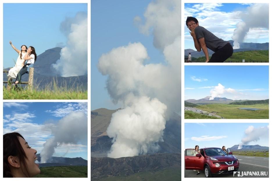 阿蘇火山的煙霧 玩起來