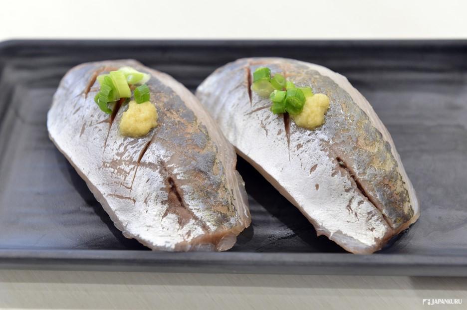 竹筴魚 180日元+TAX
