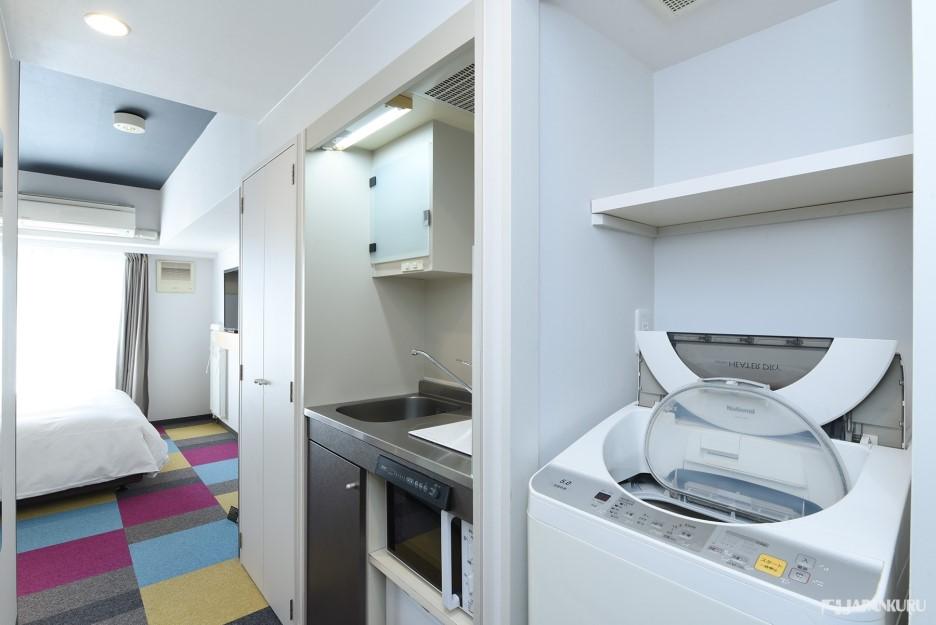 Mini kitchen and washer & dryer