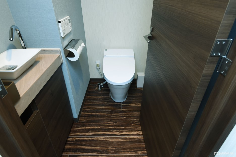 Neat separate toilet