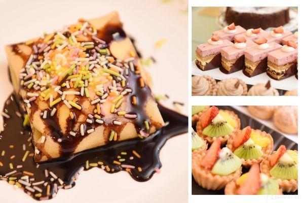 Large sélection de desserts