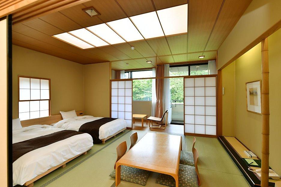 Chambre Japonaise avec lits et tatami