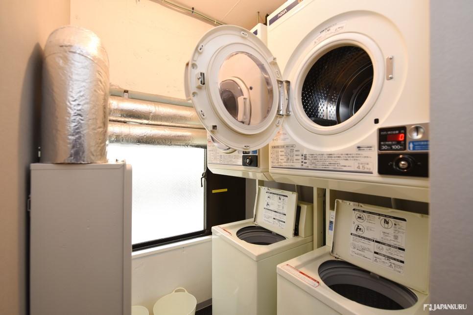 Q.有洗衣机烘干机吗?