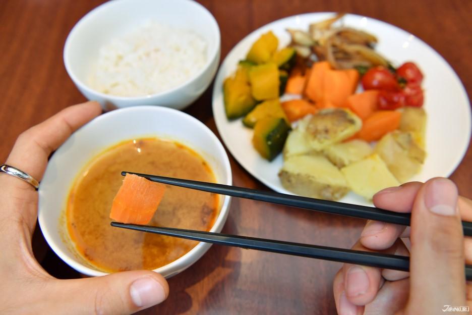 2.新鮮的北海道蔬菜及湯咖哩