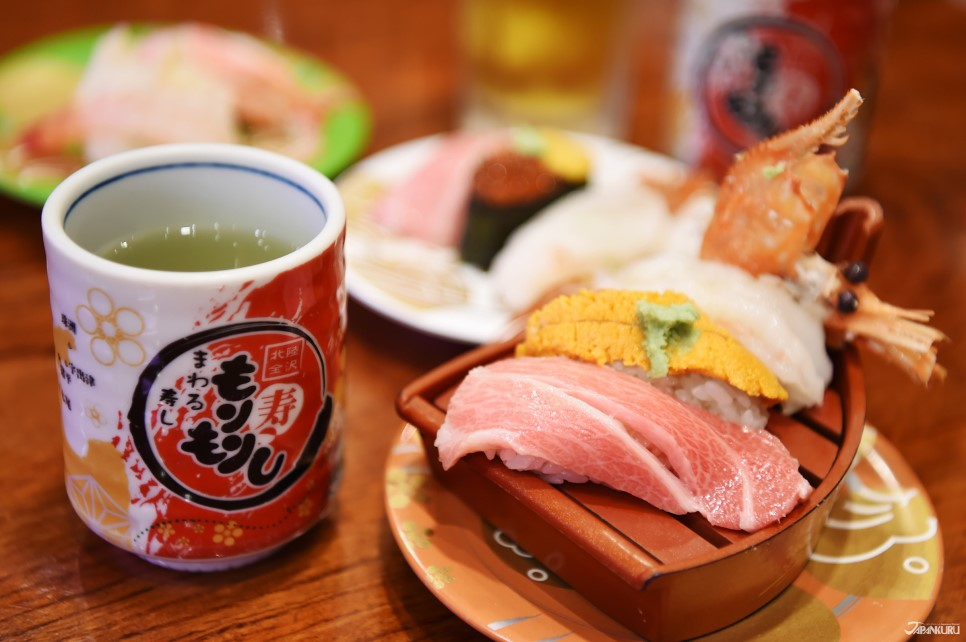 신칸센 타고 나오는 회전초밥집