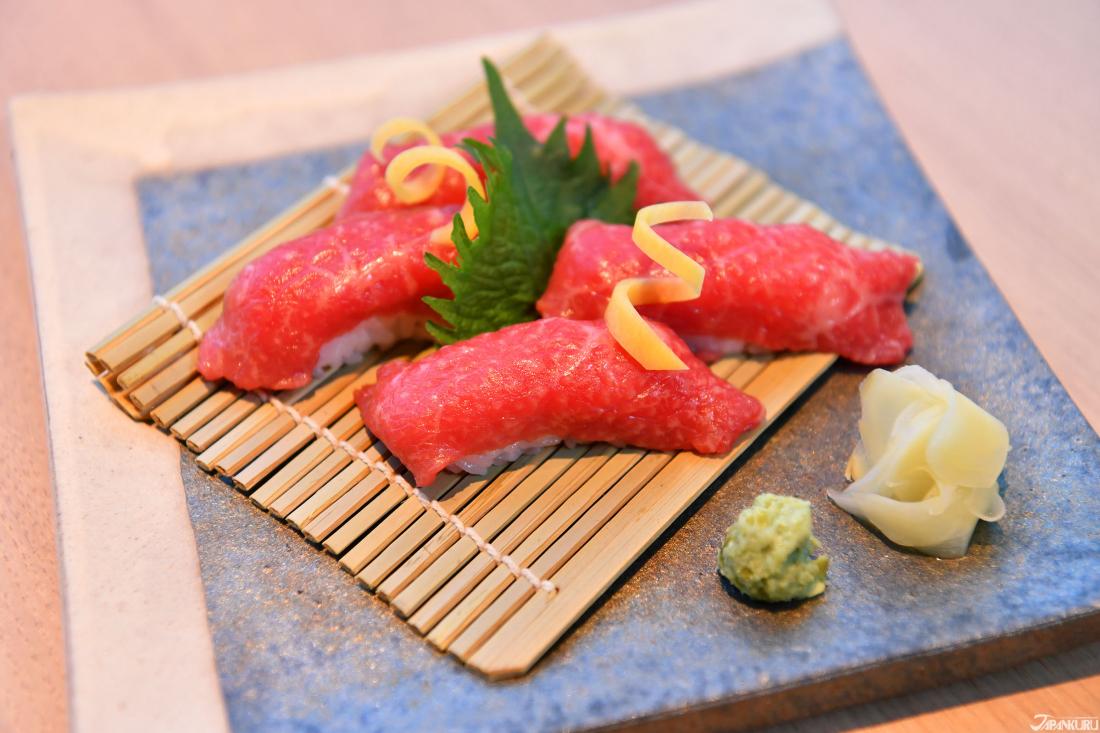 壽司不只有海鮮 ★ 尾崎牛肉握壽司