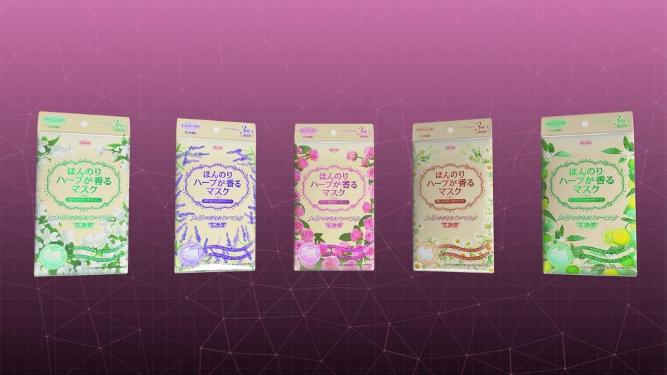 ↪향기나는 삼차원 마스크(5가지 종류/각 3매입)
