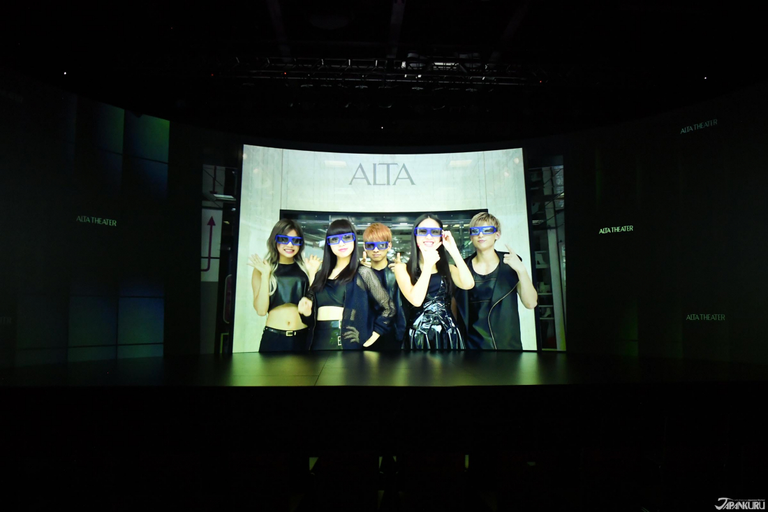 ⑤ You will be notified to put on 3D glasses for 3D videos. This time,  it is the new AVEX' group
