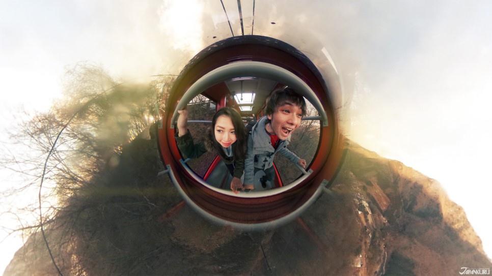360도 키누가와를 내려다 볼 수 있는 전망
