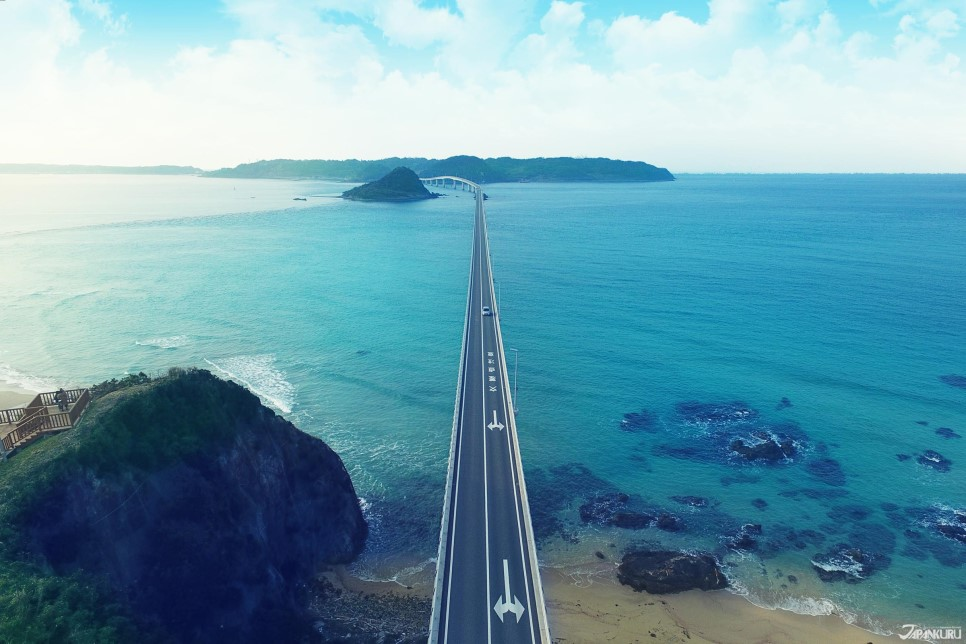 2 被選為「死前一定要到訪的世界絕景」角島大橋