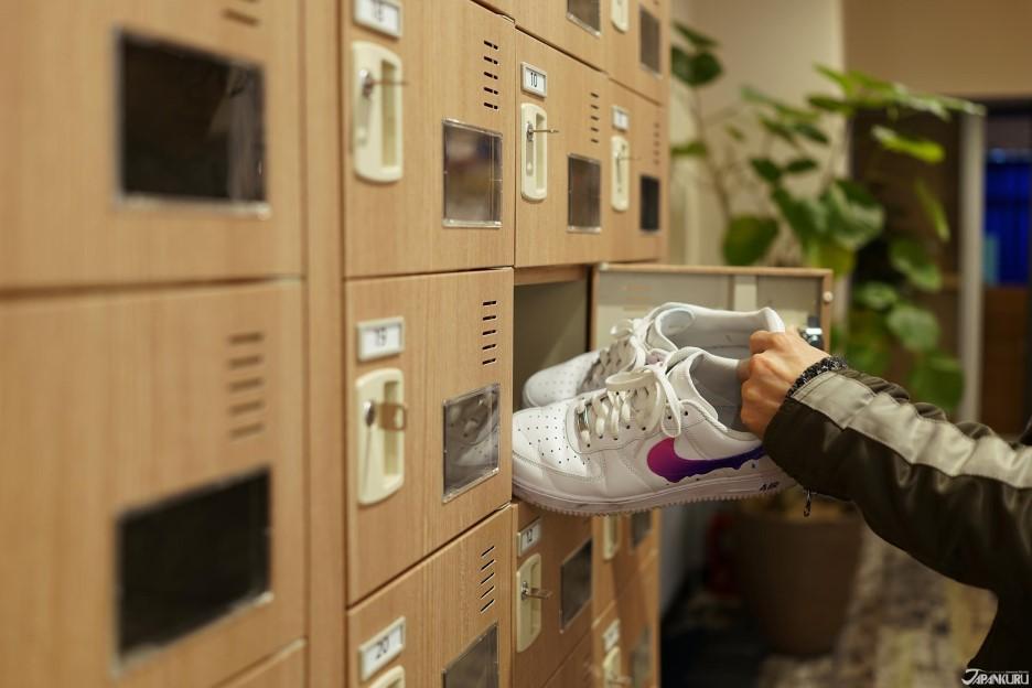 ❺ Posez vos chaussures à l'entrée