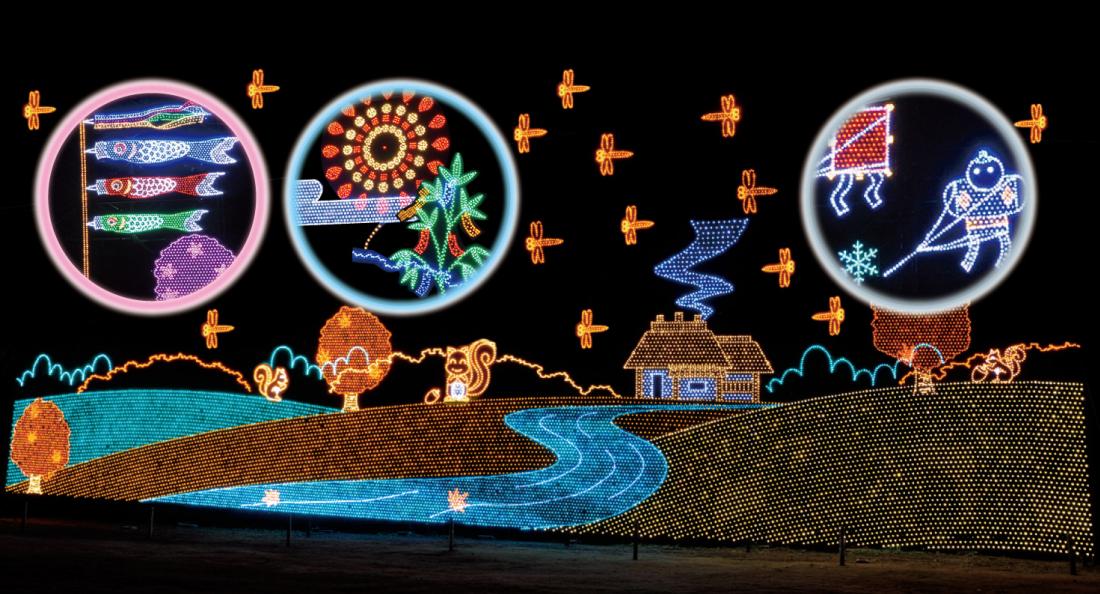 日本的四季 心靈的故鄉 主題燈飾