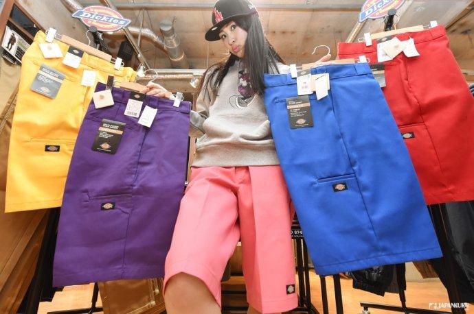 色彩繽紛的時尚達人五分褲