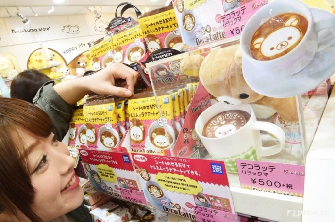 日本的熱賣商品Deco Latte