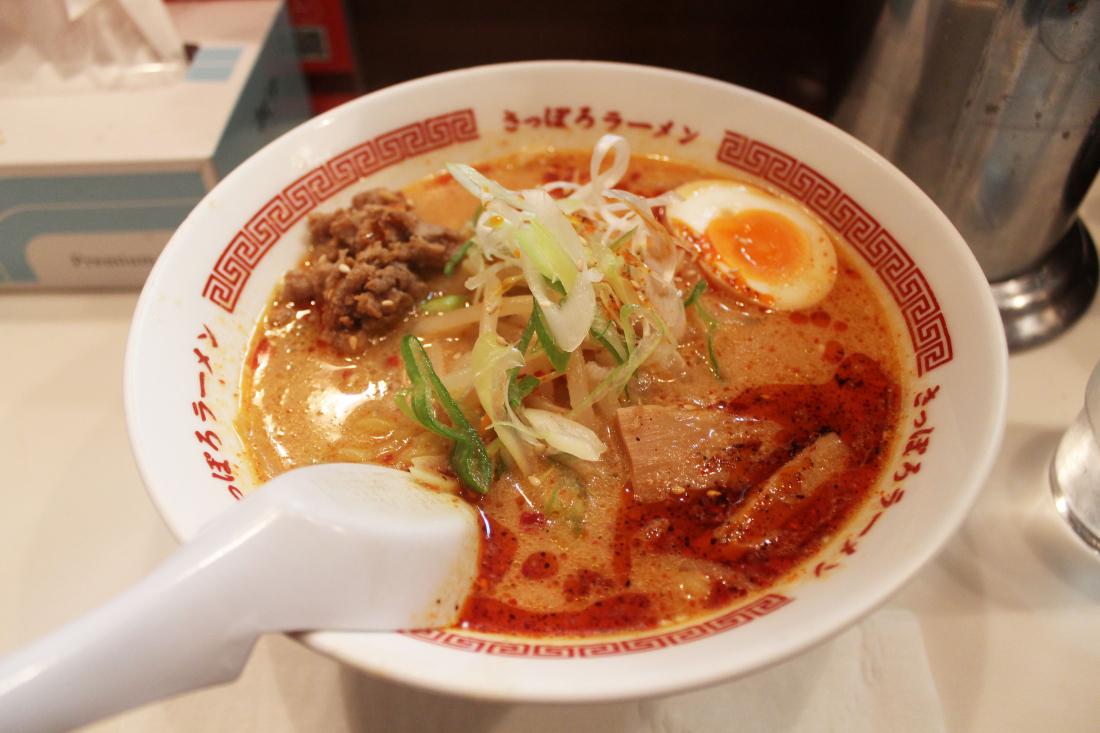 ▲ 처음 갔을 때 먹은 카라미소라멘(950엔)!
