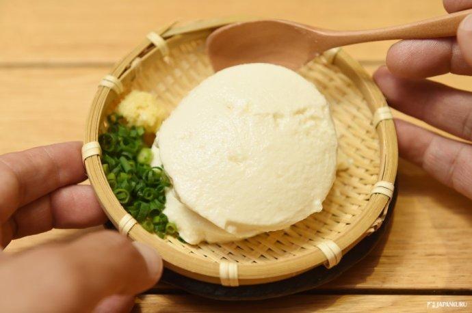 川岛豆腐店のざる豆腐