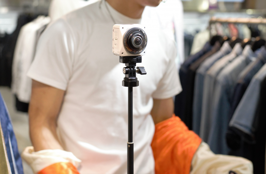 ※4k화질의 영상촬영이 가능한 360도카메라