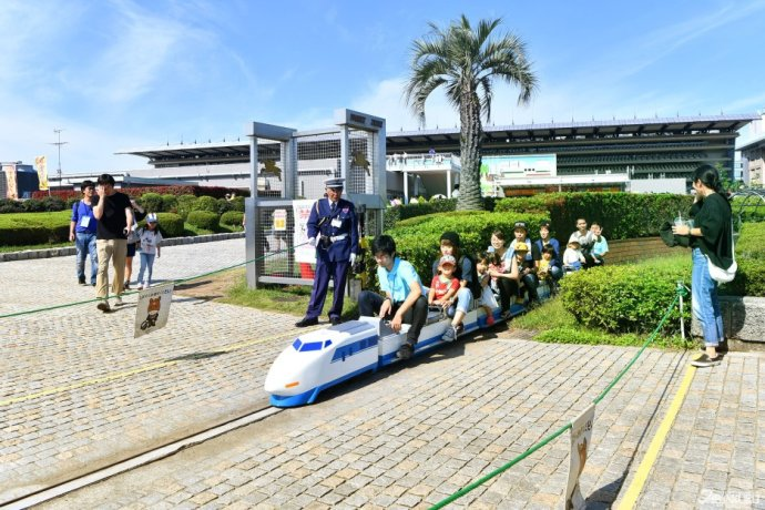 Family times to ride on a mini-train