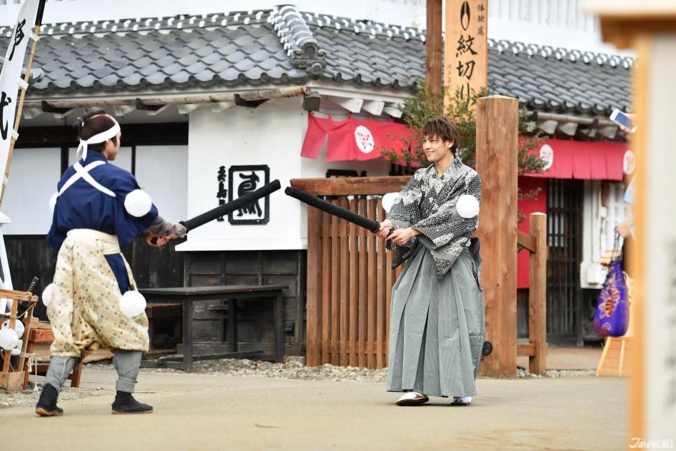 在日光江户村的角色扮演