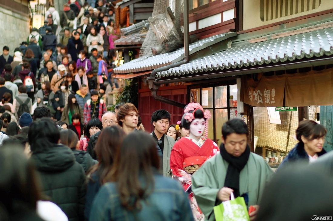 Les petites ruelles menant au Kiyomizudera