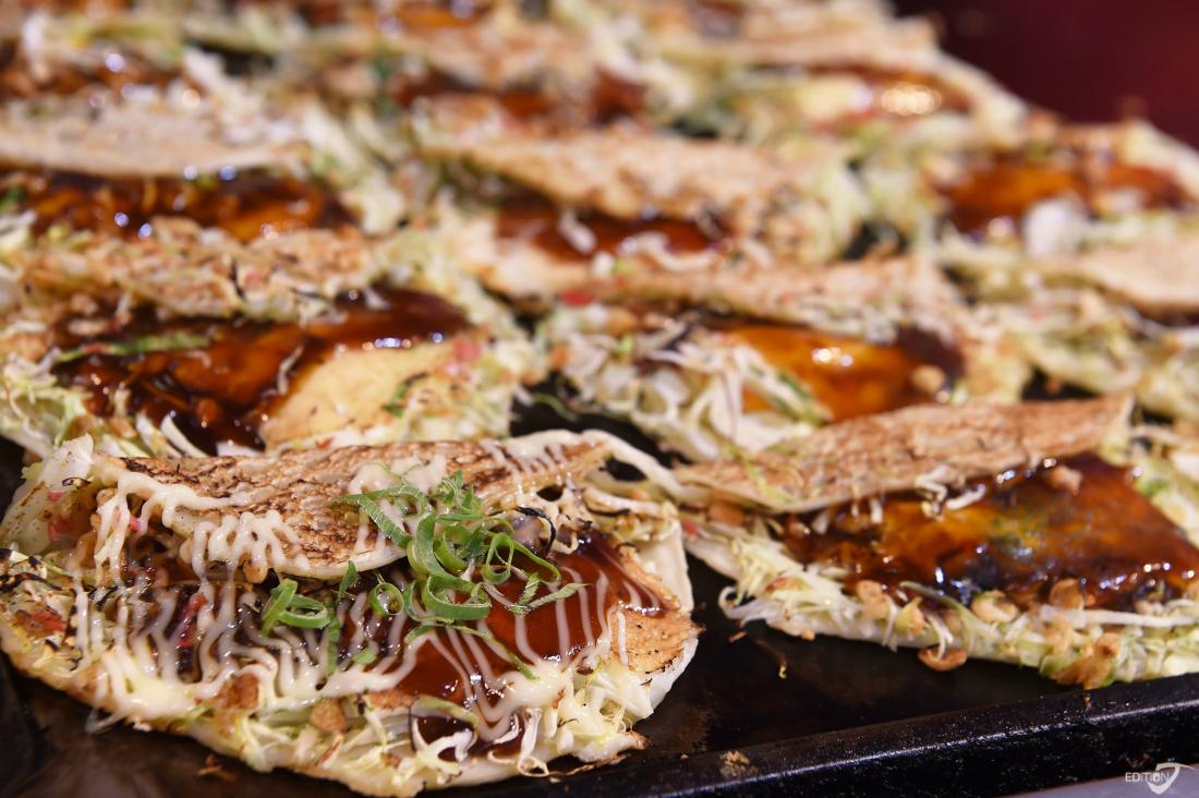 Une autre spécialité, l'Okonomiyaki