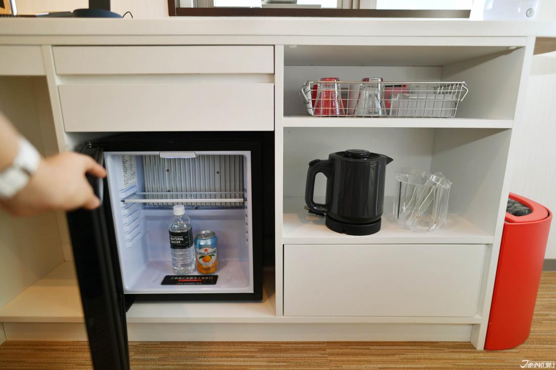 Réfrigirateur et boissons