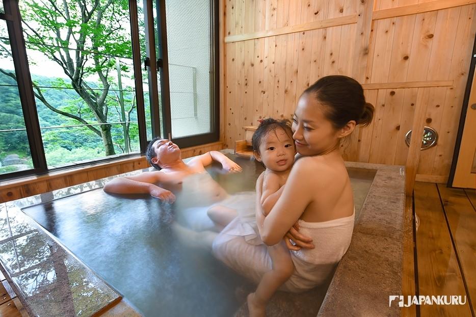 Le Onsen en Famille