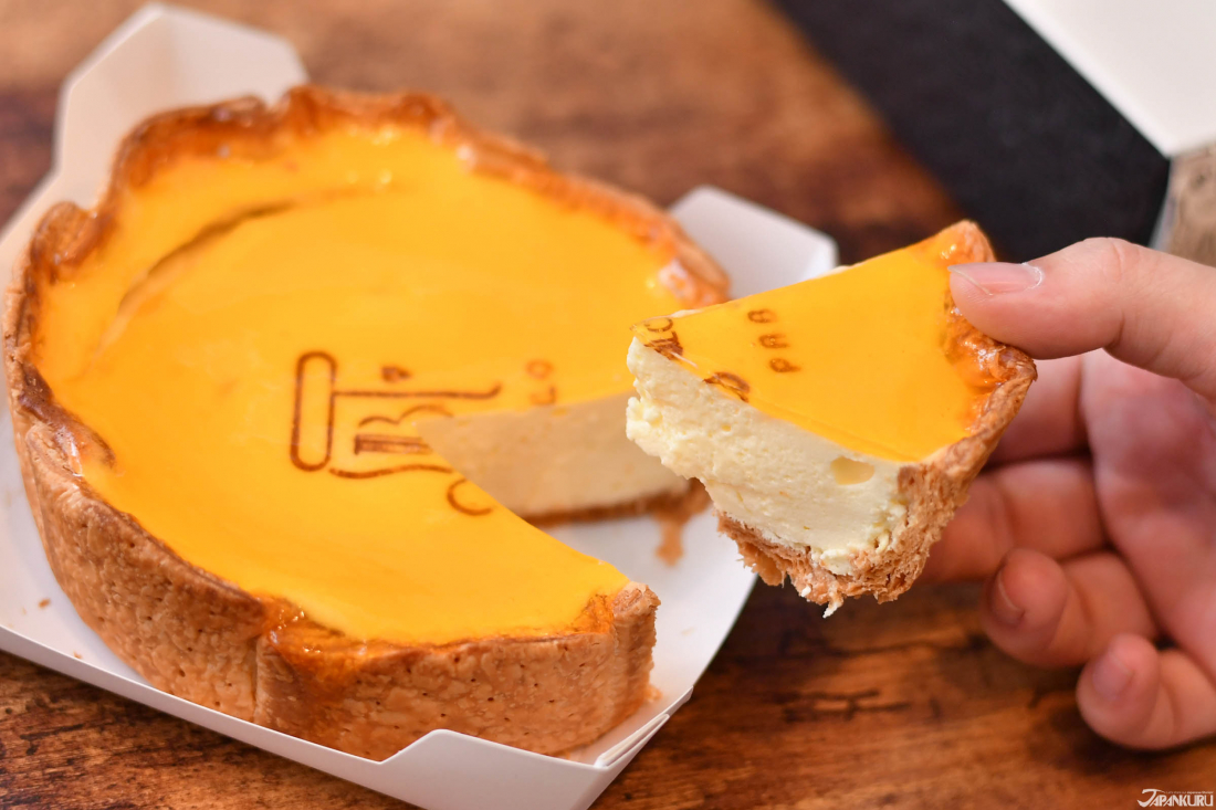 Cheese tart with a thick and almost melting texture