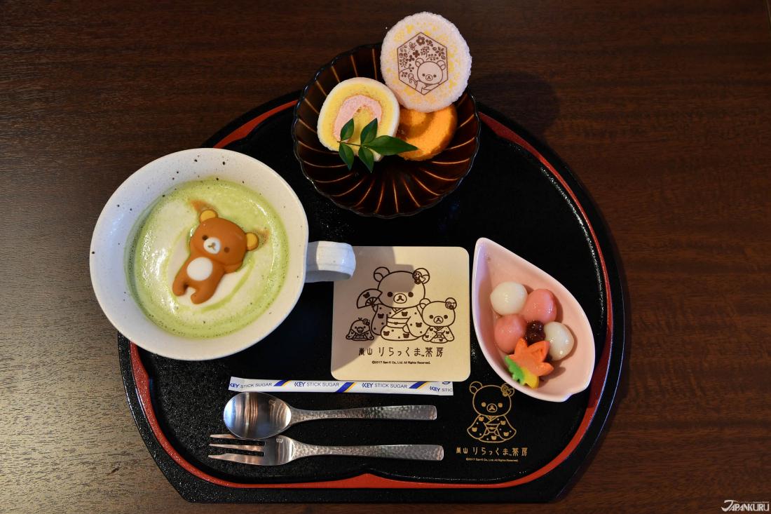 Marshmallow Latte Set (1,580 YEN+TAX)