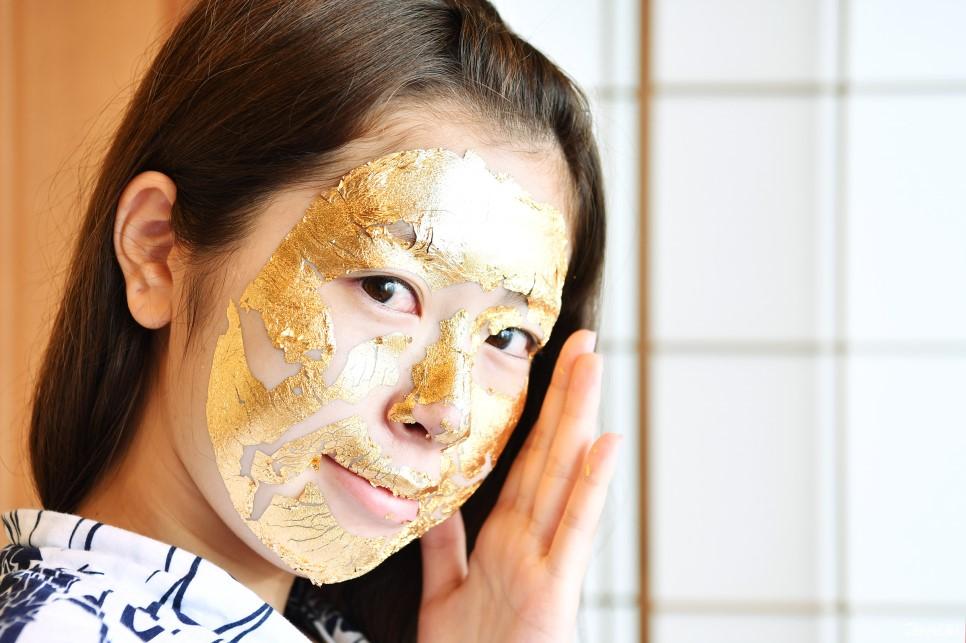 Masque à la feuille d'or
