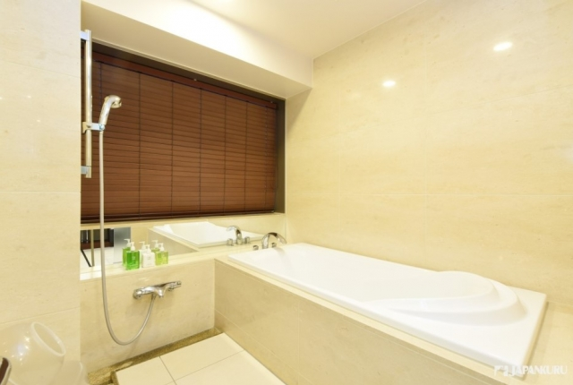 Shower room with rich amenity