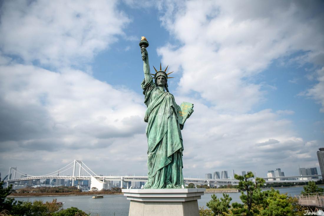 台场重要地标:自由女神像
