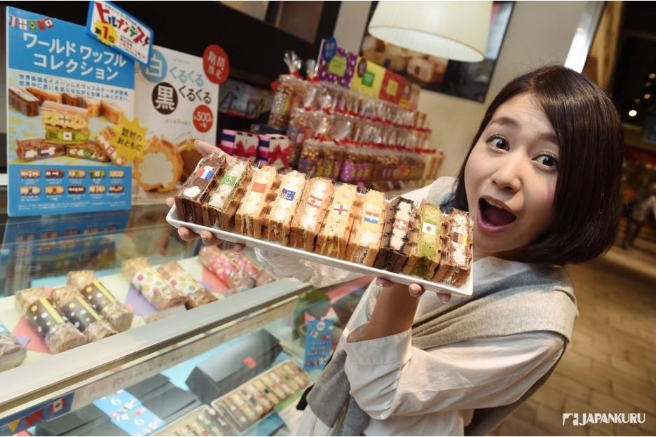 位于Food Avenue B1楼的waffle cake RL 品种之多 数量超丰富