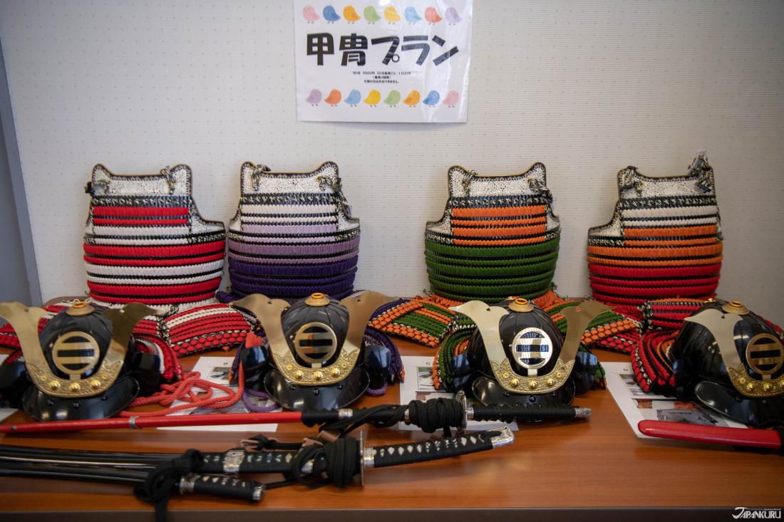 Những chiế áo giáp của các chiến binh cổ đại Nhật Bản dành cho cả nam lẫn nữ.