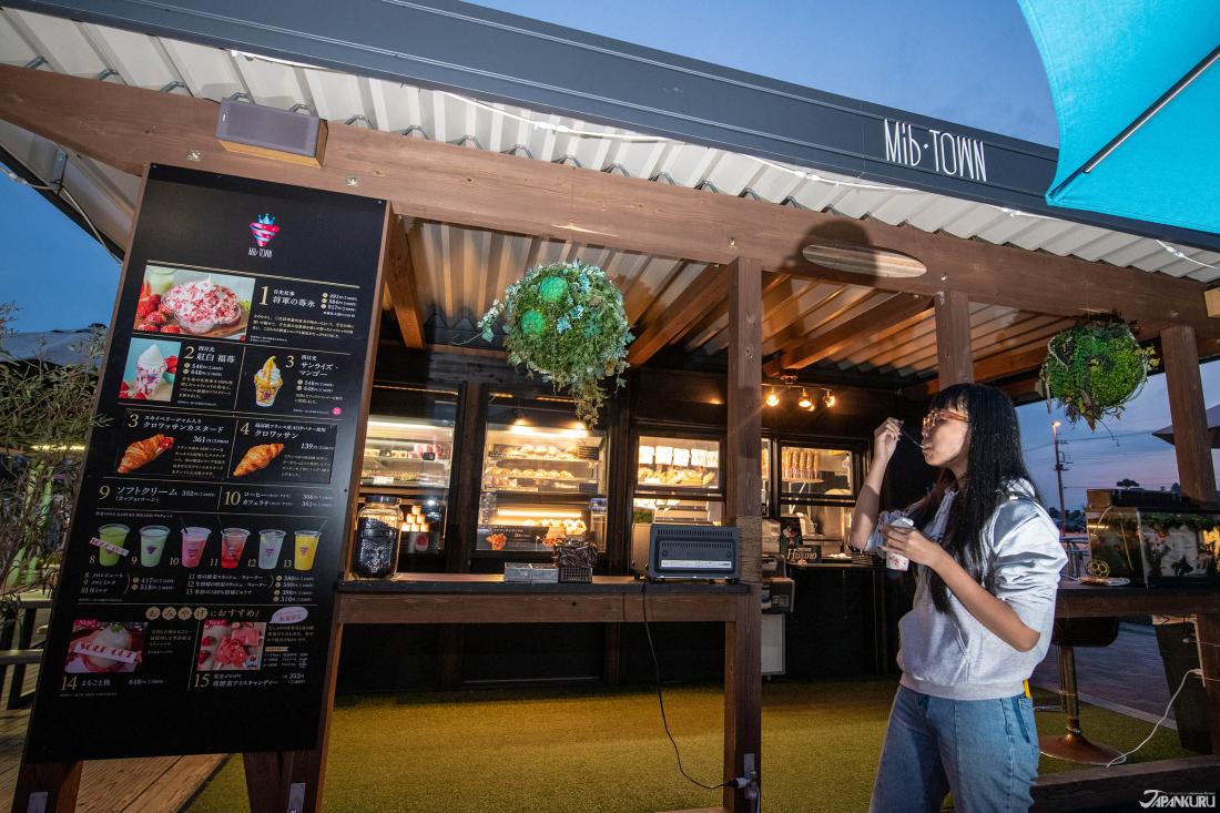 Mib-TOWN tuy là dạm dừng chân nhỏ nhưng cung cấp hầu hết tất cả các loại đồ ăn nhẹ đặc biệt của Tochigi.