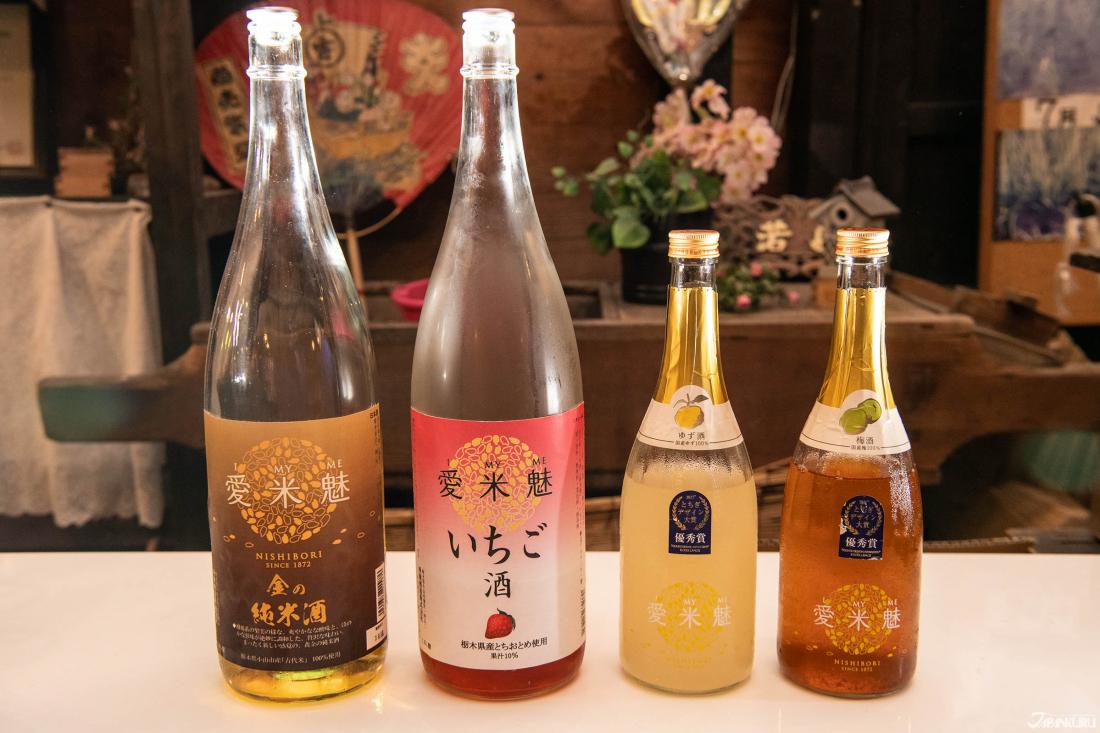 Có một loạt rượu trái cây I My Me với các vị cam quýt Nhật Bản (yuzu), dâu tây và mận Nhật Bản (ume)