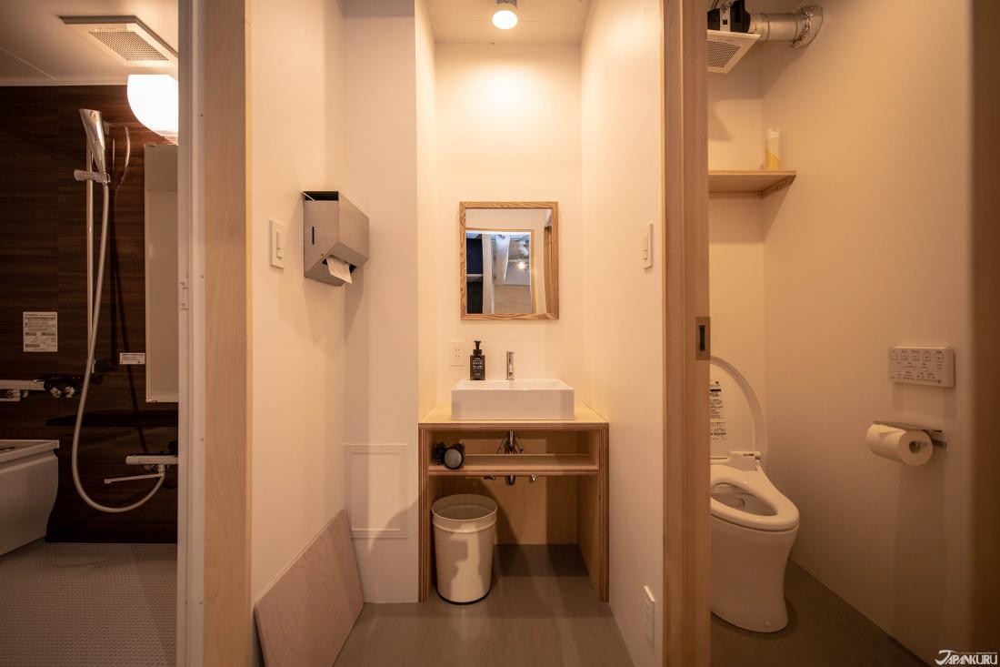 Phòng tắm riêng có vòi sen và bồn tắm