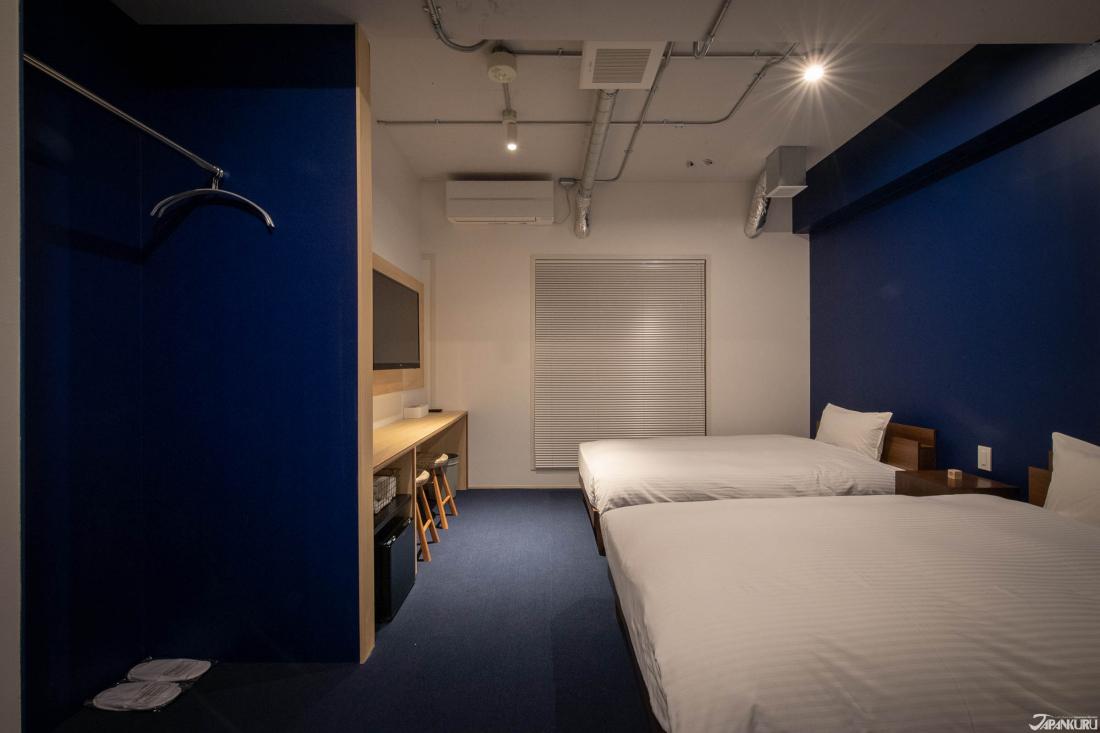 싱글 침대 2대가 구비된 트윈룸