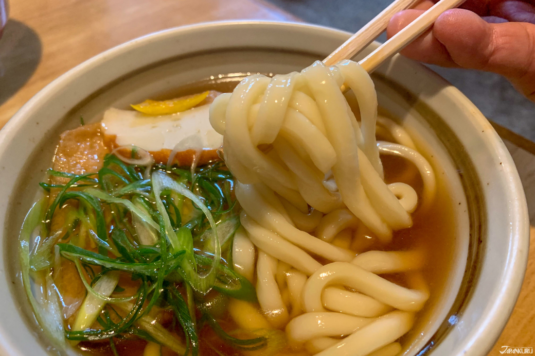 This bowl of traditional udon is 580 yen, which rounds up to pretty much $5.30US.