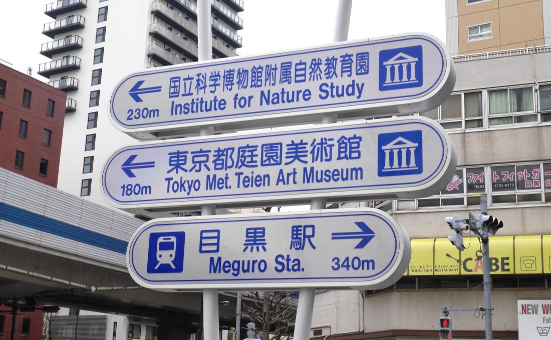 ③沿著路標就可以到美術館門口