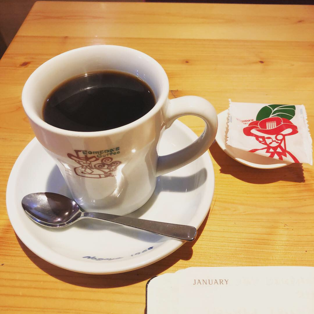 Komeda's 咖啡會贈送一小包豆子