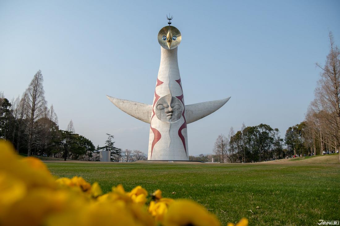 太陽之塔與櫻名所百選「萬博紀念公園」